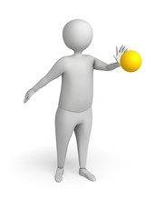 Character with Yellow ball