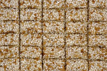 Sesame seeds in sugar