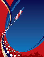 American Fireworks Background