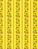 Vector Eps10 Yellow Wallpaper Pattern with Orange Flowers poster