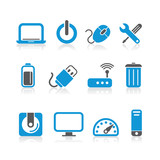 simple blue computer icons