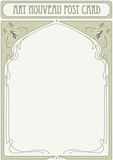 Art Nouveau Frame with space for text poster