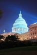 Capitol Hill Building at night, Washington DC