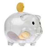 Piggy bank style glass moneybox poster