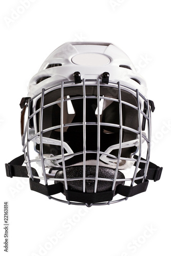 Hockey helmet on white background