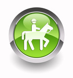''Horseback riding'' glossy icon