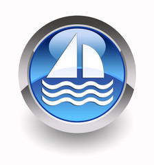 ''Sailboat'' glossy icon