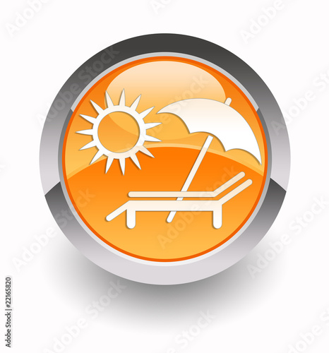 ''Summer holidays'' glossy icon