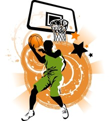 basketball in green