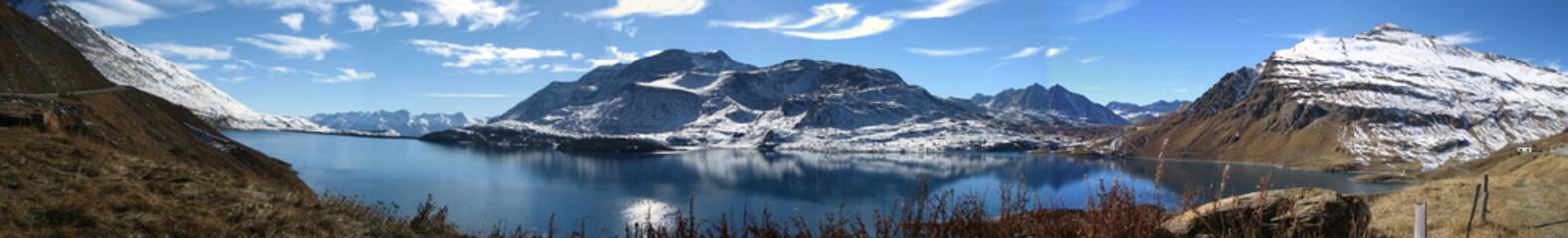 Panoramique Montagne Mont Cenis neige