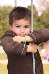 bambino al parco gioco