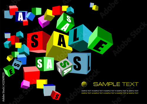 Black sale banner, Vector illustration