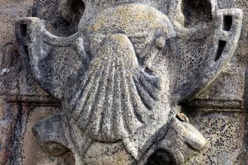 Pilgern,Symbol,Jakobsmuschel,Santiago de Compostela,Galicien