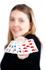 Full House poker girl