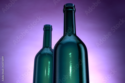 Wine bottle close up illustration