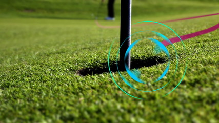 perfect golf putt - target animation