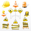 Vector set of  under construction icons
