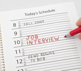 Calendar reminder job interview