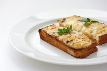 Croque monsieur,Ham and cheese sandwich
