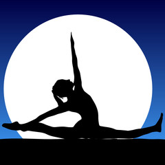 gymnastics in the moonlight illustration