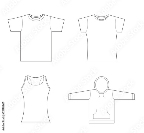 T-shirt, sweatshirt template