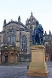 Adam Smith memorial, Edingburgh, Scotland poster