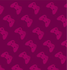 Game joypad vector background.