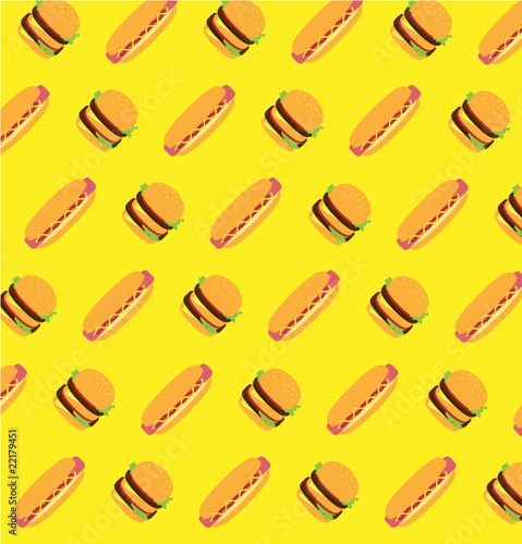 Background from burger and hotdog