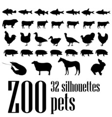 vector silhouettes 32 pets