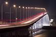 busy traffic bridge in macau..
