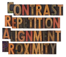 typography of design principles - CRAP