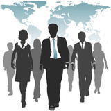 World work force business people human resources poster