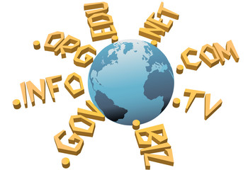 World top level URL internet WWW domain names