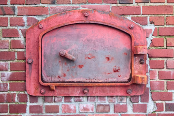 Red Incinerator Door