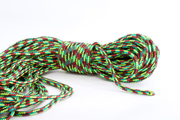 twisted colored rope