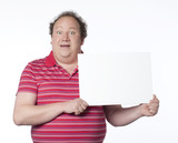 homme panneau publicitaire insertion poster