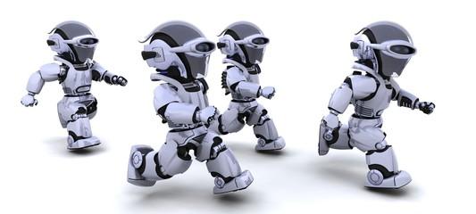 robots running