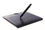 Fototapety Electronic drawing pen tablet isolated