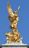 Golden angel memorial statue London poster
