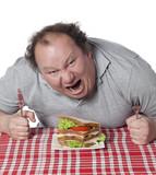 homme enragé mangeant un sandwich poster