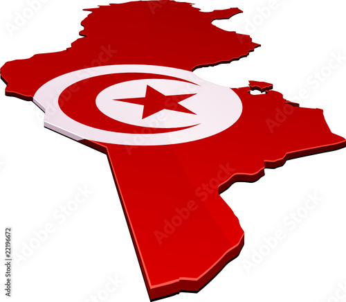 quotcarte de la tunisie 3d drapeau d233tour233quot fichier