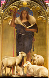 Jesus Christ - good shepherd paint from viligiardi - Siena
