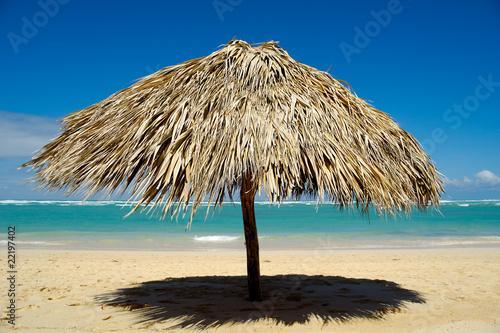 Parasol on beach - 22197402