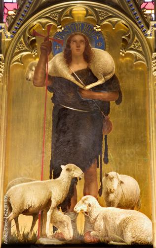 Jesus Christ - good shepherd paint from viligiardi - Siena - 22197405