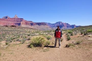 Abstieg in den Grand Canyon