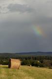 overcast sky with rainbow poster