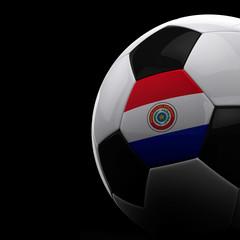 Paraguayan soccer ball over black background