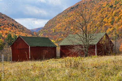 Catskill Mountains and Barn