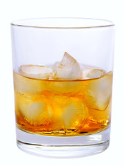 Godfather On The Rocks Cocktail isolated on white