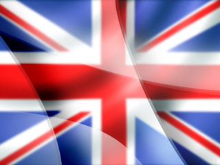 Mac-style abstract background in British colors